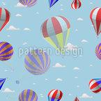 Heissluftballonfahrt In den Wolken Muster Design