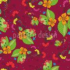 Flora Tropical Design de padrão vetorial sem costura