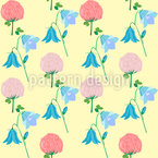 Sommer Wildblumen Nahtloses Vektormuster