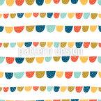 Lustige Fahnen Musterdesign