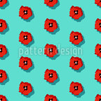 Poppies Polkadot Design Pattern