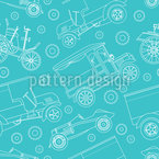 Steampunk Adventure Seamless Pattern