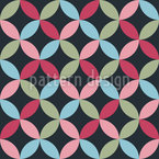 Petal Connection Seamless Vector Pattern Design
