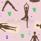 Sunset Yoga Repeat Pattern