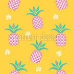 Ananas am Morgen Nahtloses Vektormuster