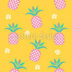 Pineapple In The Morning Seamless Vector Pattern Design