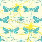Libellen im Schatten Nahtloses Vektormuster