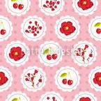 Grannys Cerisier Rose Motif Vectoriel Sans Couture