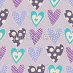 An Open Heart Seamless Vector Pattern Design