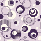 Circle Dance Seamless Vector Pattern Design