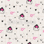 Herzige Liebesbriefe Nahtloses Vektormuster