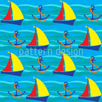 The Sea And I Seamless Vector Pattern Design