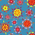 Fiery Flowers Vector Design