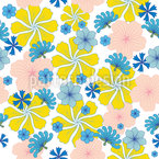 Let It Bloom Again Seamless Vector Pattern Design