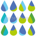Colorful Extra Large Rain Drops Seamless Vector Pattern