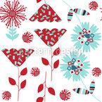 かわいい花 シームレスなベクトルパターン設計