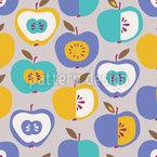 半減のリンゴ シームレスなベクトルパターン設計