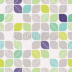 Geometrische Blätter Vektor Muster