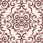 Lace Idol Brown Repeating Pattern