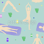 Sunrise Yoga Repeat Pattern