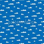 空の雲 シームレスなベクトルパターン設計