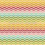 Rainbow Chevron Seamless Vector Pattern Design