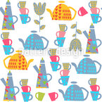 My Cup Of Tea Seamless Vector Pattern Design