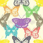 Schmetterlings Show Nahtloses Vektormuster