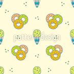 Eis und Donut Vektor Muster