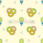 Ice Cream and Doughnut Seamless Vector Pattern Design