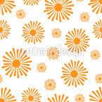 Strahlende Sonne Nahtloses Vektormuster