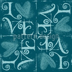 Vintage Typo Seamless Vector Pattern Design