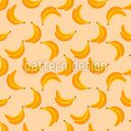 Süsse Bananen Nahtloses Muster