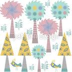 Árvores no País das Design de padrão vetorial sem costura