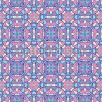 Glasmalerei Blumen Nahtloses Muster