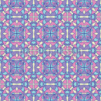 Stained Glass Flowers Seamless Pattern