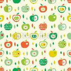 りんごが好きです シームレスなベクトルパターン設計