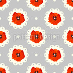 Vintage Poppies Seamless Vector Pattern