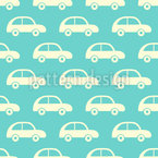 Vintage Toy Cars Seamless Vector Pattern Design