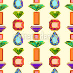 Gems Seamless Vector Pattern Design