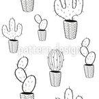 Topf Kaktus Musterdesign