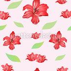 Leidenschaft Für Lilien Nahtloses Vektormuster