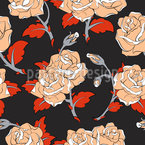Baroque Roses Seamless Vector Pattern Design
