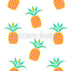 Tropical Pineapples Seamless Vector Pattern Design