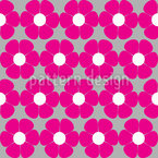 Sixties Floral Seamless Vector Pattern Design