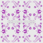 Flower Tendrillars Seamless Vector Pattern Design