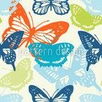 Schmetterlinge im Sommer Nahtloses Vektormuster