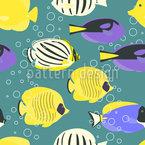Tropische Fische Nahtloses Vektormuster