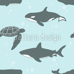 Marine Animals Vector Ornament
