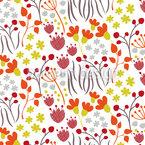 Wiesen Wildblumen Nahtloses Vektor Muster